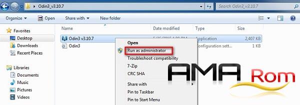 باز کردن با administrator